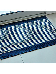 Bath Rug Blue Stripe 18 x 29""