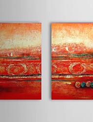 Handgemaltes Ölgemälde Abstrakt Seide mit gestrecktem Frame Set von 2 1311-AB1063