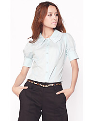 Color de contraste Camisa azul de unifo Mostrar Mujeres