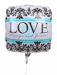 décoration de mariage motif carré métallique ballon avec motif de fleur noir