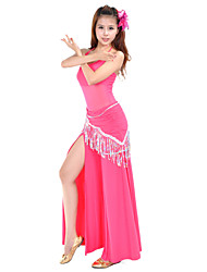 Dancewear Crystal Cotton Belly Dance Outfits For Ladies(More Colors)
