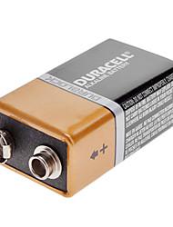 Duracell 9V 6LR61 Alkaline Battery Gold + Black