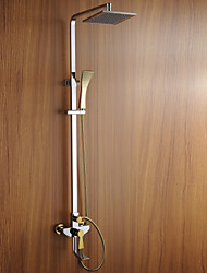 Shower Faucet Contemporary Sidespray Brass Chrome