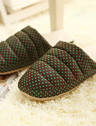 Casual Flexible Green Polka Dots Man's Slid Slippers