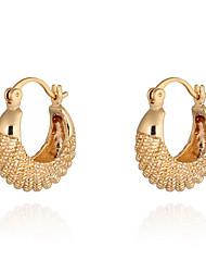 Das KU NIU Mulheres chapeamento de ouro Brinco Er0180