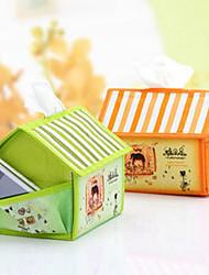Cartoon House Shape Tissue Box