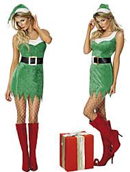 Cool Girl трава зеленая бархатная новогодние костюмы