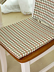 """Chair Pad, Cotton/Polyester 15""""*17"""", Gingham"""