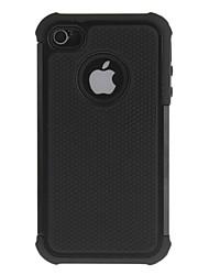 2-in-1-Design Hexagon-Muster Hard Case mit Silikon Innen-Abdeckung für iPhone 4/4S (verschiedene Farben)