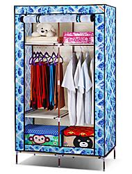 Simple Folded Multifunctional Minium Blue Storage Closet