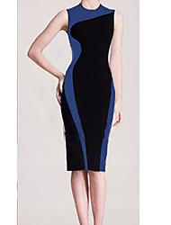 S & Z Graça Vestido Azul Vintage da Mulher