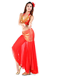 Belly Dance Outfits Women's Training Chiffon Beading