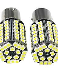 68 3528 SMD 1157 BAY15D White DC 12V LED Car Bulb Stop Brake Light Lamp (1 Pair)