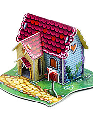3D Mini Red House-9 Pieces