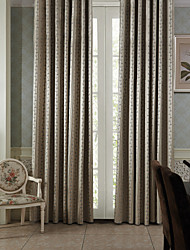 TWOPAGES® (Two Panels) Modern Strip with Flower Room Darkening Curtain