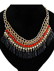 Bohemia Folk Style Black Water Layers of Acrylic Necklace(More Colors)