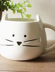 Cartoon Cat Mug, Ceramic 13.5oz, Multi-color