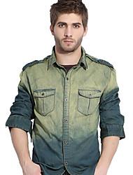 Men's Long Sleeve Top , Cotton Casual