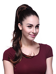 Brown Clip in Hair Pony Tail Hair Extension