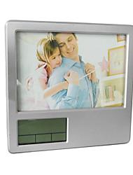 Pen Titular Photo Frame Calendário Termômetro Alarm Clock