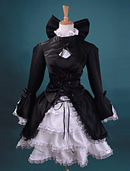 Fate / stay night Saber Negro Traje Cosplay