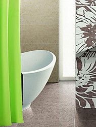 Shower Curtain Polyester Waterproof Pure Light Green W72 x L72""
