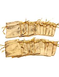 (20 pcs) Clássico Ouro / Prata Fios de jóias sacos para uso diário