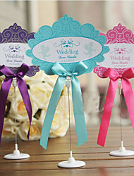 Personalized Place Card With Holder and Ribbon - Set of 10 (More Colors)