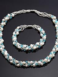 Women's Jewelry Set Crystal/Pearl