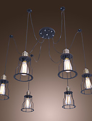 Max 60W Traditional/Classic / Vintage Mini Style Painting Chandeliers Living Room / Bedroom / Dining Room / Kitchen / Entry