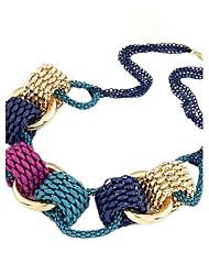(1 Pc)Vintage (Circle Pendant) Multicolor Alloy Choker Necklace(Multicolor)