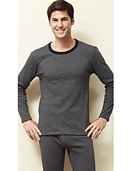 Thick lã quente Thermal Underwear masculina