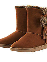 Frauen bowknot Mittler-Kalb Winter-Tassel Boots
