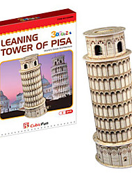 High Class 3D A torre inclinada de Pisa Forma Puzzles