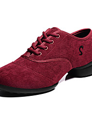 Women's Corduroy Dance Sneakers For Ballroom