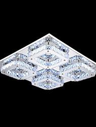 UMEI ™ conduit cristal encastré, 4 lumière, en acier inoxydable de galvanoplastie transparent moderne