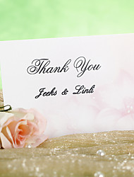 Thank You Card - Fantasy Pink Flower (Set of 12)