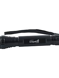 UniqueFire WF-501C en mode simple Cree XP-E Q5 LED Flashlight (300LM, 3 * 16340, Noir)
