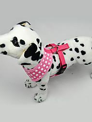 Dog Harness LED Lights / Polka dots Blue / Pink Textile