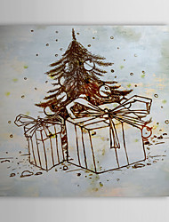 Christmas Holiday Gift Oil Painting Christmas Tree and Gifts Ready to Hang