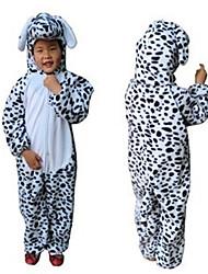 Beau chien tacheté Velboa enfants Kigurumi pyjama