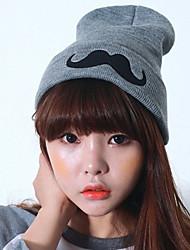 motif de moustache mignonne bonnet / slouchy des femmes