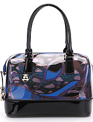 SCIDACA Gorgeous Cow Leather Blue-Black Tote