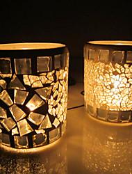 """3.25""""Mosaic Jigsaw Glass Candle Votive"""
