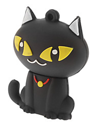 8gb gato bonito flash USB pen drive black white