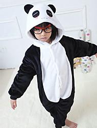 Kigurumi Pijamas Panda Malha Collant/Pijama Macacão Festival/Celebração Pijamas Animal Preto/Branco Miscelânea Flanela Kigurumi Para