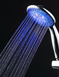 Chrom-Finish Blaue LED Handbrause