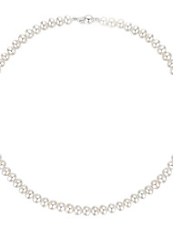 Hanazo Women's 7-8mm Natural Pearl  Necklace PN0030WC27273