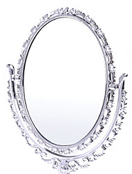 "7.25 ""H Silver Flower Style de table Mirror"
