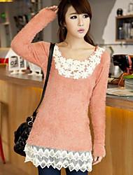 Dentelle Fleur Mink Cachmere l'Orange Xinhuiyi femmes chandail de tricot
